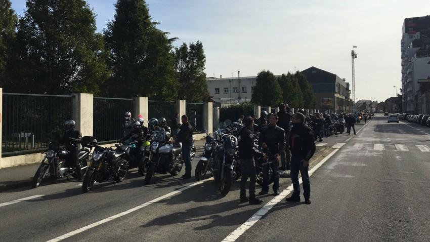 manif moto à Rennes