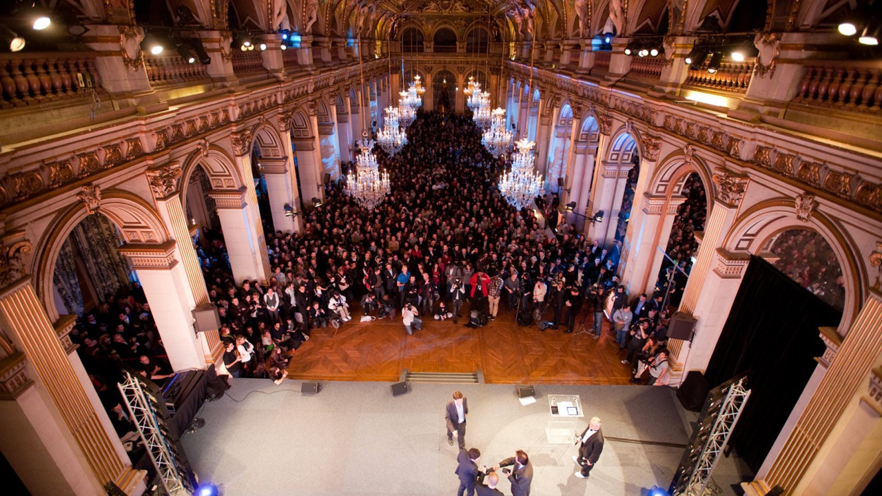 Maire de Paris pour les Golden Blog Awards 2015