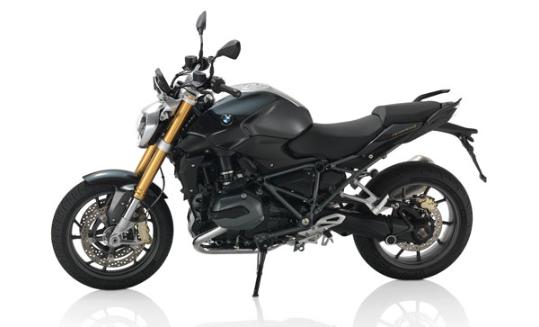 BMW R 1200 R 2015 : Style, noire avec fourche or