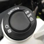 bouton de démarrage de la moto R 1200 GS