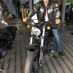 Motard Rennais en Harley Davidson
