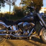 Conduite cruise sur le Fat Boy Harley Davidson
