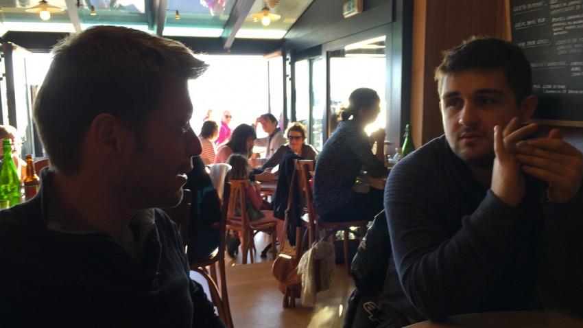 Loïc et Antoine au Breizh Café de Cancale