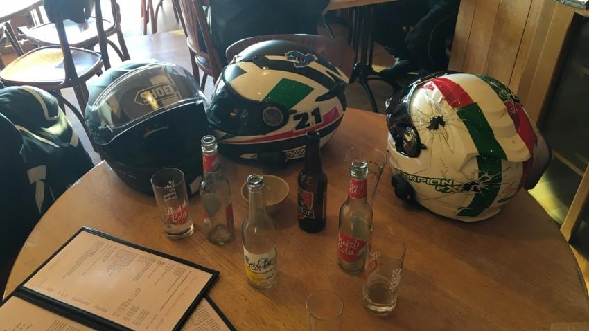 motard Rennais à Cancale au Breizh Café