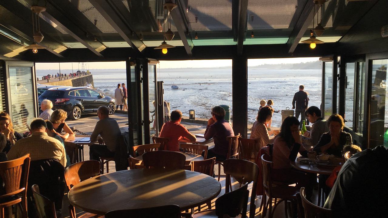 vue mer depuis le Breizh Café de Cancale