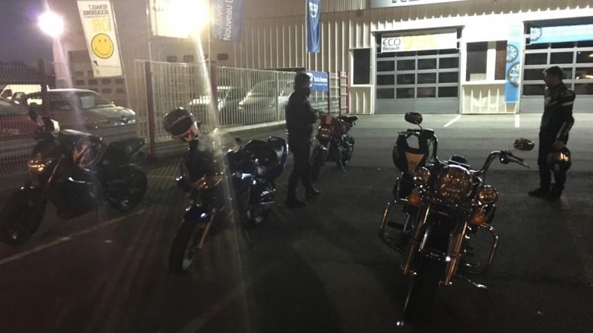 arrivée à Rennes pour les motards Rennais