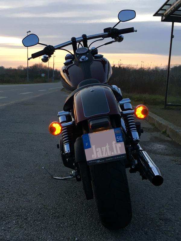 balade moto en décembre en Harley Davidson