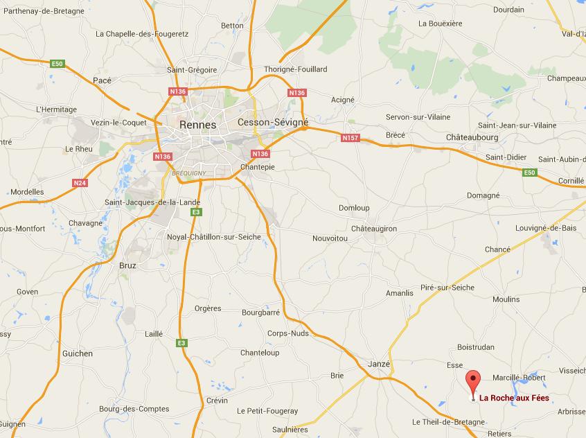 La Roche aux Fées, balade moto au départ de Rennes
