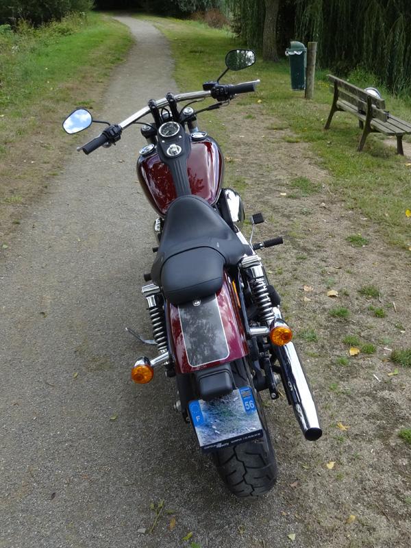 Au guidon du Streetbob Harley Davidson (Spécial Edition 2014)