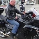 Didier en tenue de motard