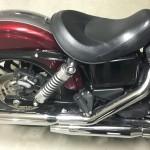 selle monoplace sur Harley Davidson