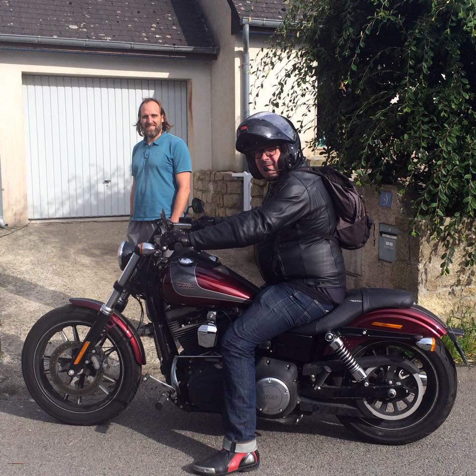 David Jazt sur sa Harley Davidson