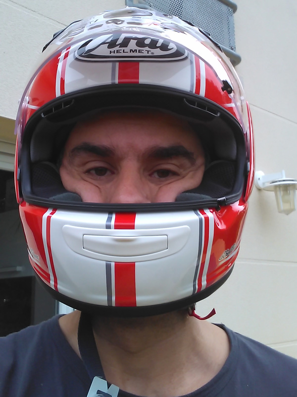 casque moto de Jean-Claude : Arai Chaser 5 Raw