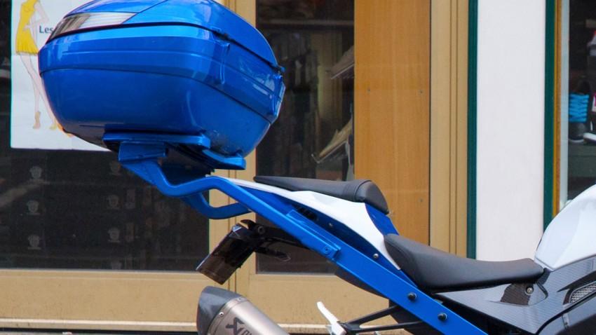 Top Case sur une moto sportive