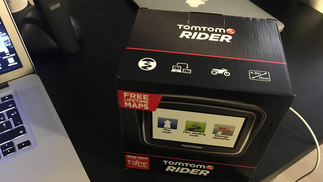 boîte du Tomtom Rider