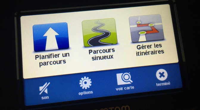Interface du Tomtom Rider V4