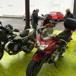 balade moto en groupe à Rennes