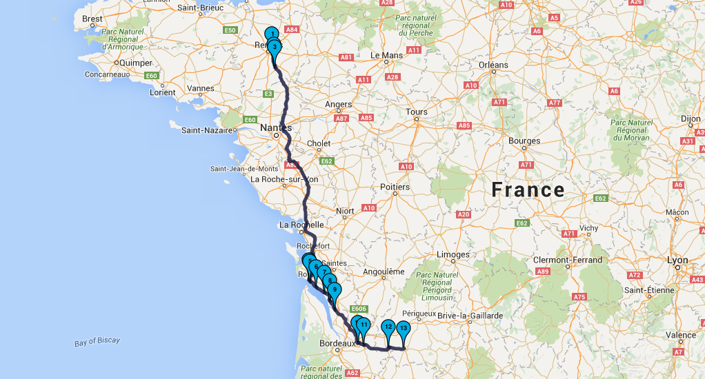 Roadbook Dordogne & Auvergne Moto Tour en juillet 2016 : Jour 1
