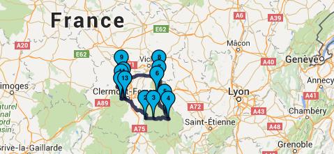 Roadbook Dordogne & Auvergne Moto Tour en juillet 2016 : Jour 3