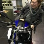 Laura sur la nouvelle F800R