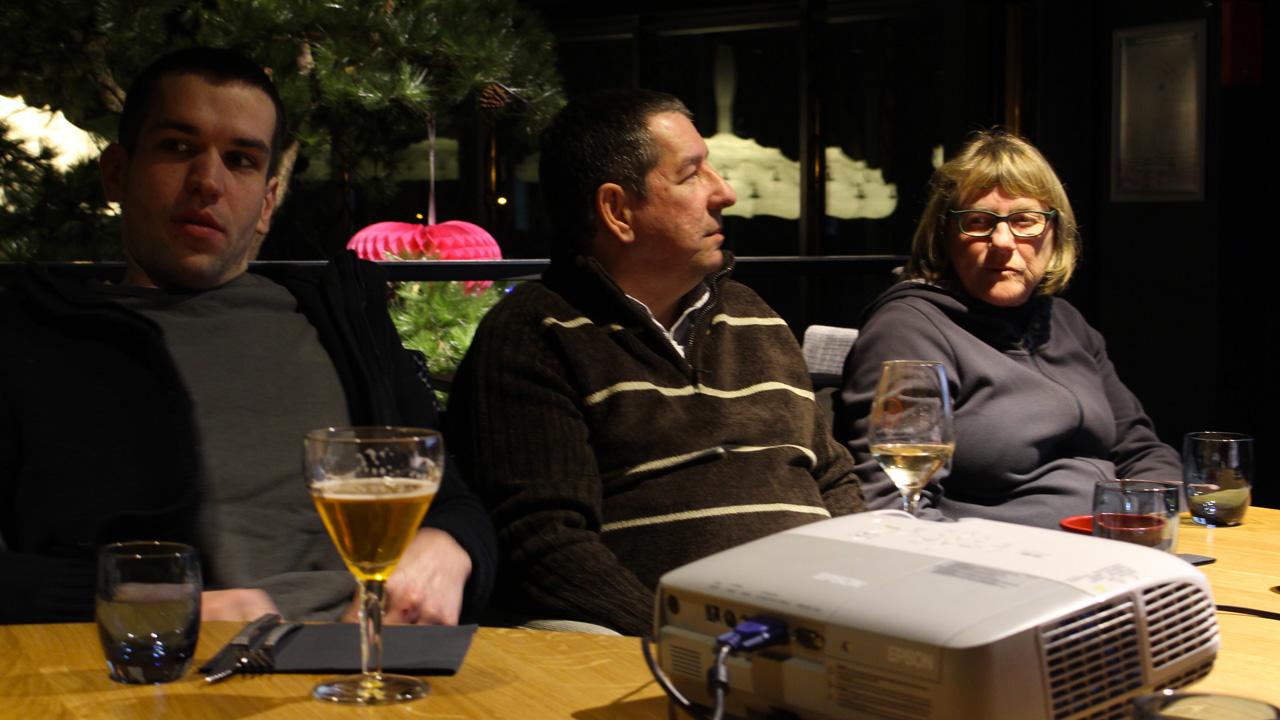 Florent, Lionel et Christine