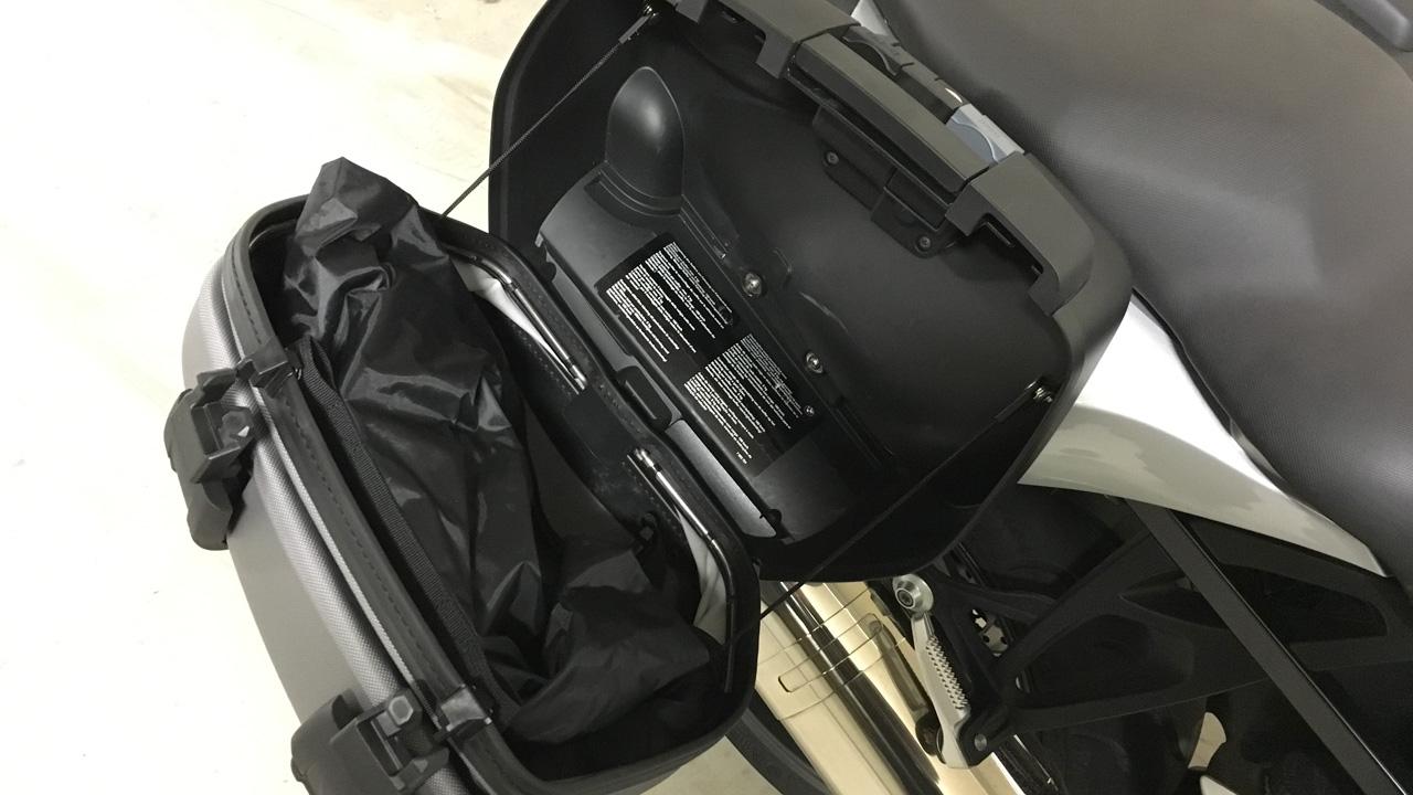 valise moto souple sur le K1300S