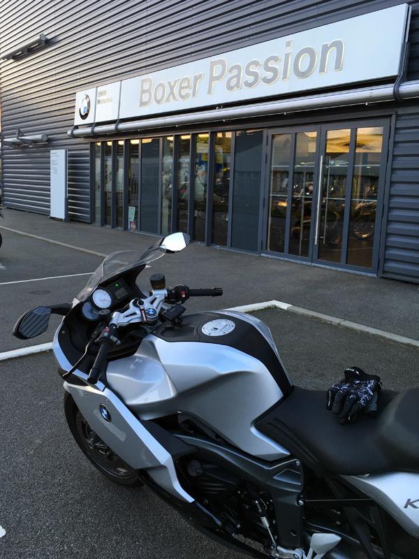 moto K1300S chez Boxer Passion Rennes : moto de David Jazt