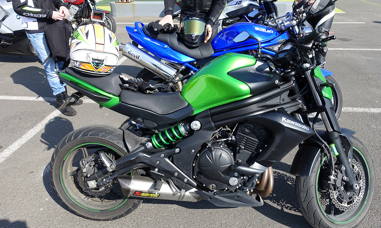 Kawasaki ER6 de Jérémy