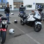 arrivée sur Saint-Grégoire des motards Rennais