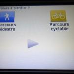 choix de parcours pédestre ou à vélo