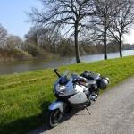 bord de la vilaine à moto