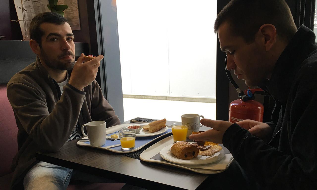 Romain et Florent à Auray en Bretagne