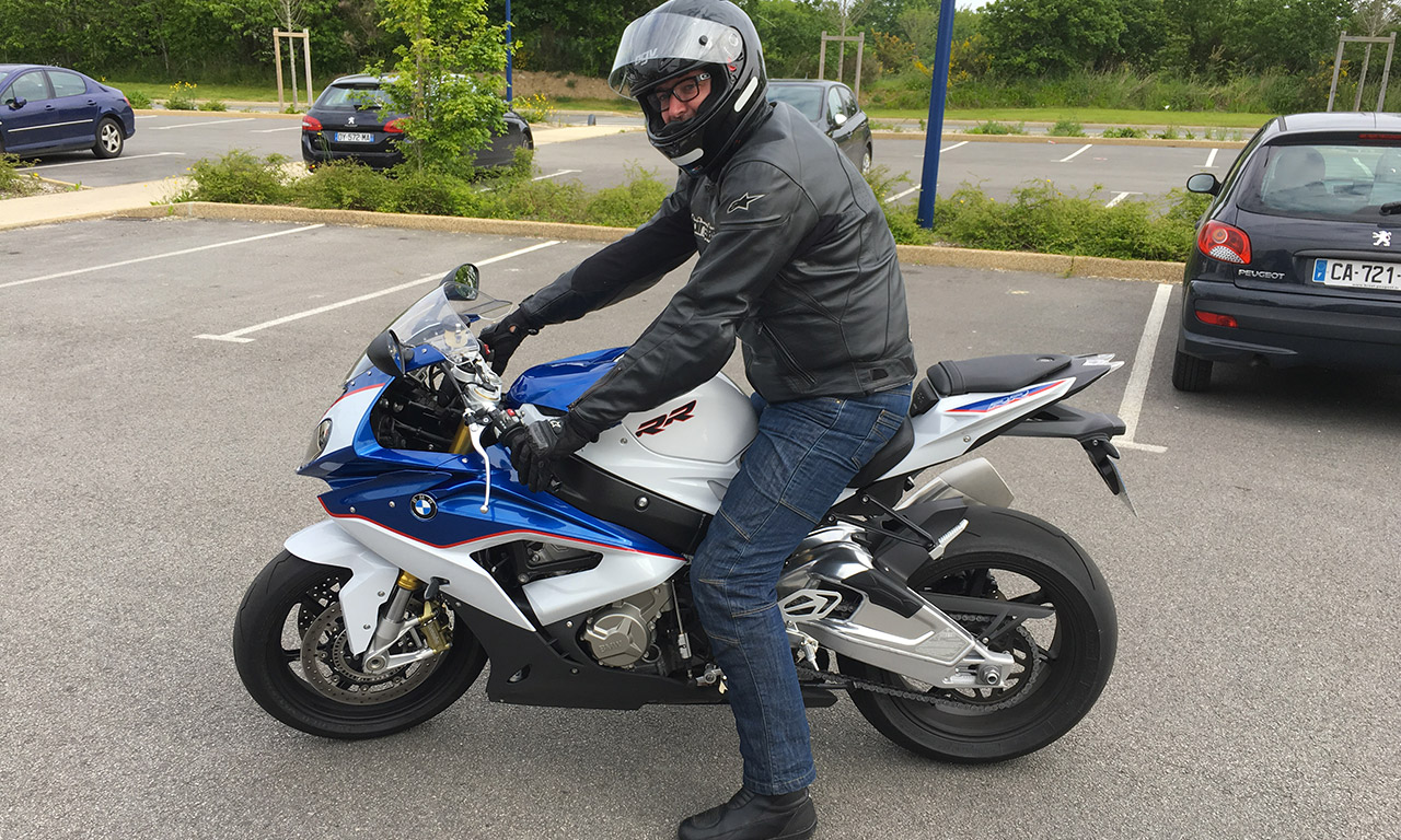 Laurent sur son S1000RR BMW