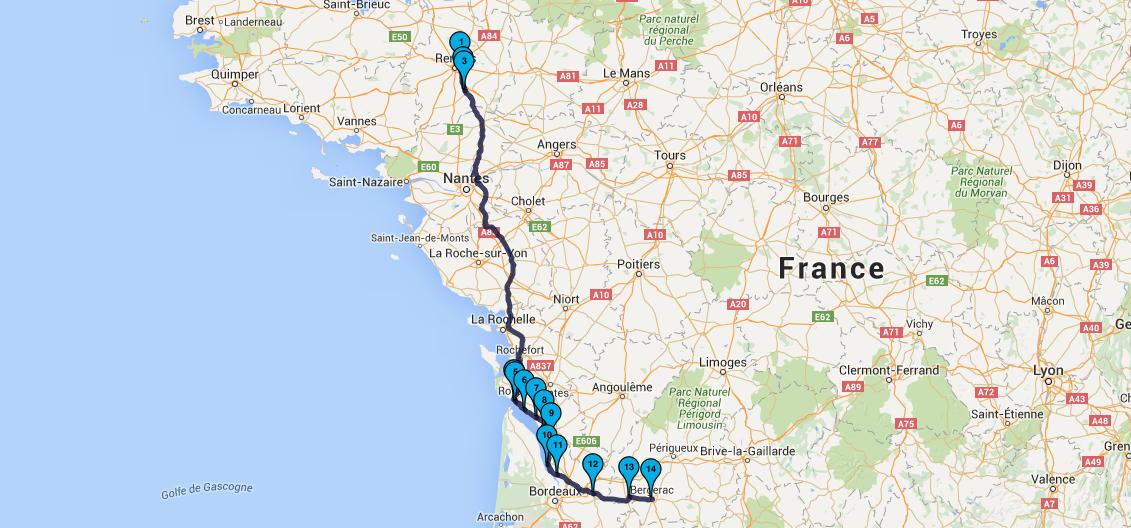 Randonnée motard Dordogne : Jour 1