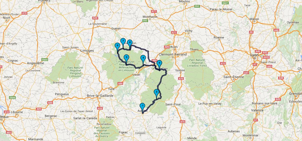 Balade moto dans le Limousin : jour 3