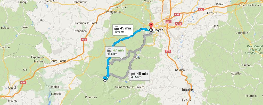 Balade moto à Clermont Ferrand : Jour 4