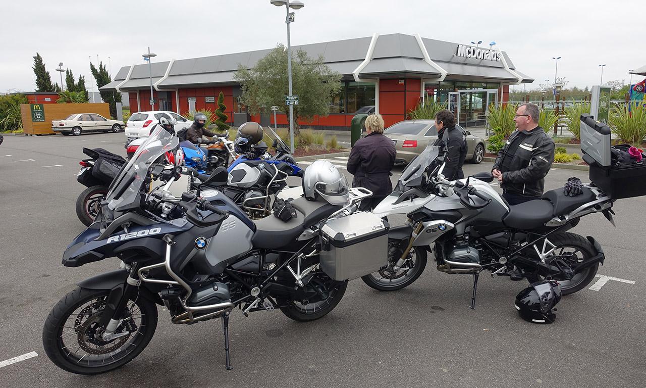 groupe motard près de Rennes