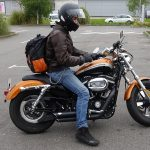 Florent en Harley Davidson