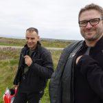 Jean-Claude et Laurent au Tour de Bretagne à moto