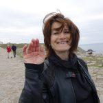 Magda au Tour de Bretagne à moto
