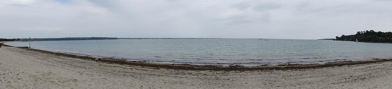panoramique sur la plage du Cap Coz