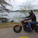 Florent sur son Harley Davidson