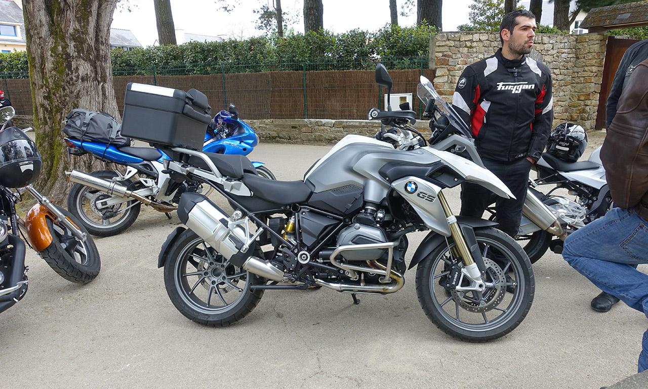la moto de David Jazt pour le Tour de Bretagne