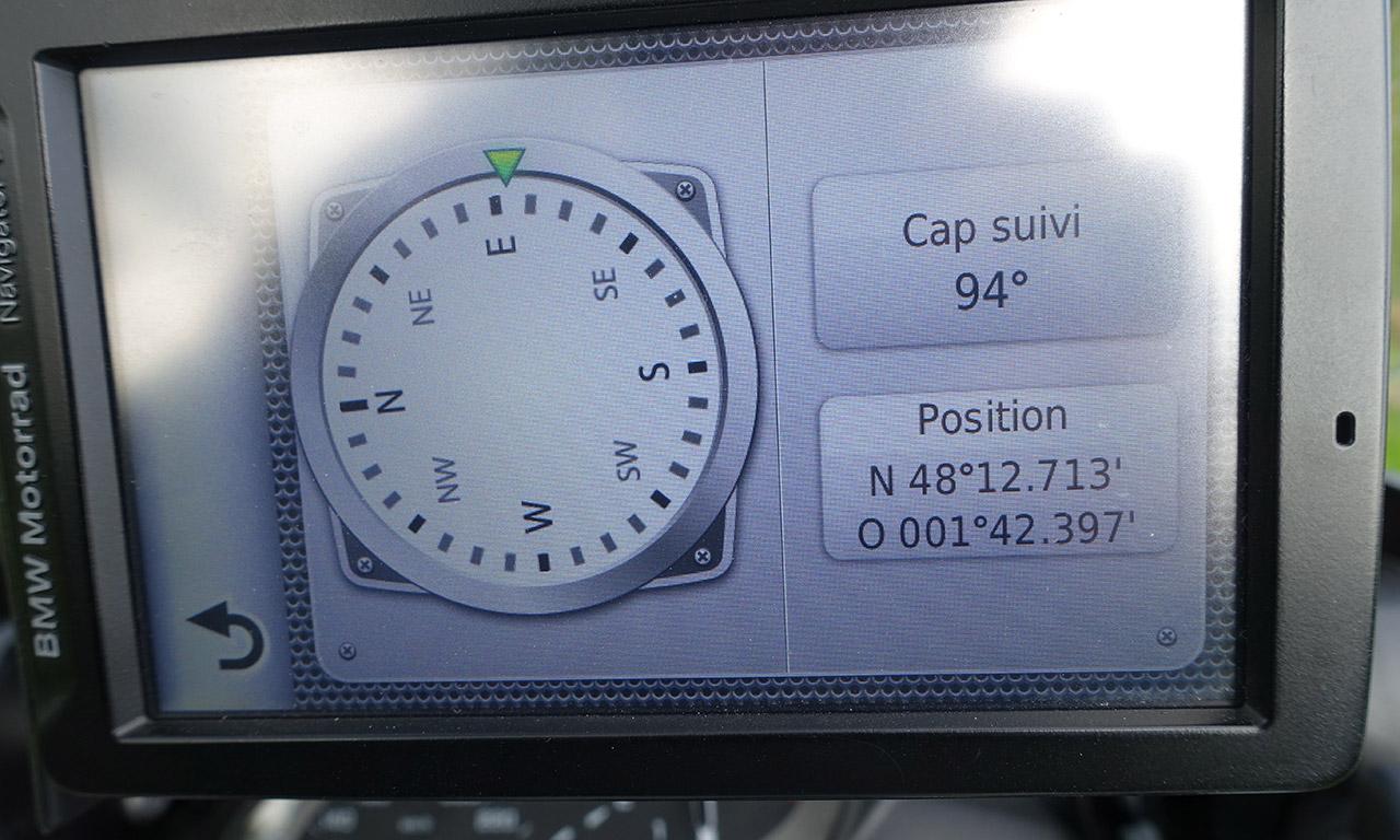 fonction boussole sur le Navigator 5