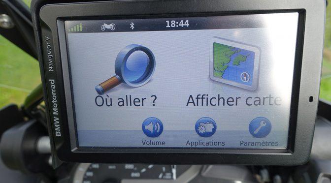 Ecran de départ sur le GPS BMW Navigator 5