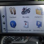 option d'affichage GPS moto BMW