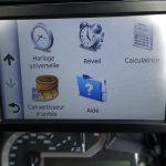 autres options sur le GPS Navigator 5