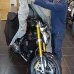 Bertrand dévoile la nouvelle moto BMW de David Jazt
