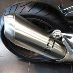 échappement inox brossé BMW moto