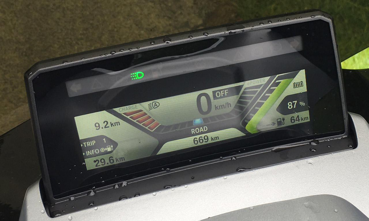 tableau de bord C-Evolution BMW